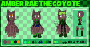 Amber Rae the Coyote Reference Sheet 2013 by TheMidnightMage