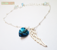 Winged Heart Bracelet by SparkleSand