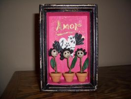 flower pots- amor by alteredboxes