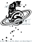 Starry Cat And Saturn Logo by WildSpiritWolf
