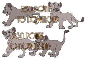 Lion Cub Base Batch by MikacesAdopts