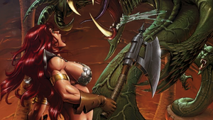 Red Sonja Wallpaper Pablo Marcos by Gilgamesh-Scorpion