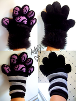 Fox Creature Speckled Handpaws (Soon With Claws) by RaiynClowd