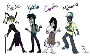 ShowBiz- Side characters by PickleJelloz