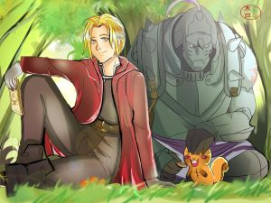 Elric Brothers by fanartbr