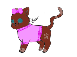 Cute kitty adopt by Official-Fallblossom