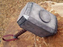 Leather wrapped Dark world hammer 2013 D by NMTcreations