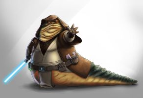 Jedi Hutt by Fan-the-little-demon