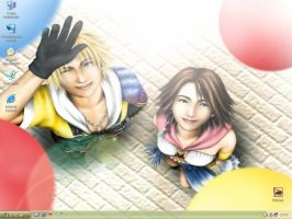 Tidus and Yuna happy at Luca by Monisse