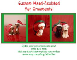 Custom Pet Ornaments by MiiruFae