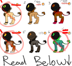 Little Monster Adoptables - READ RULES by AccursedAsche