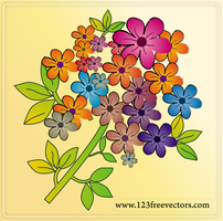 Free Flower Vectors by 123freevectors