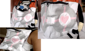 Companion Cube Backpack by zamnza