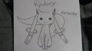 Kyubey from Madoka Magica! :D by kiritosky