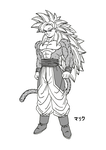 SSJ5 Son Goku (New Design - Manga version) by MalikStudios