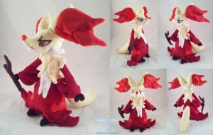Delphox Plushie by dollphinwing