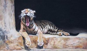 The Yawn - Boring - PASTEL by AstridBruning