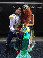 prince eric and princess ariel in love by Fantasyaffaire