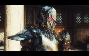 aMidianBorn Ebony Armor - Silver and Gold by Treeps