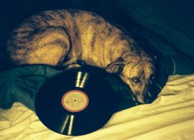 Juno With Her Record (Music Lover) by shaneydarko