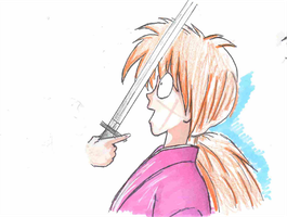 Doodle Of Kenshin by Foreveryoung8