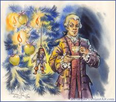 Lord Cutler Beckett and  Christmas tree. by Bormoglot