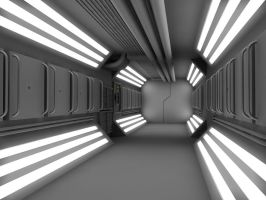 WIP 4 Sci Fi Corridor by 2753Productions