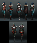 Female Warrior Armor Sets by Noe-Leyva