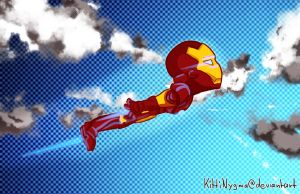 Flying Iron Man by KittiNygma