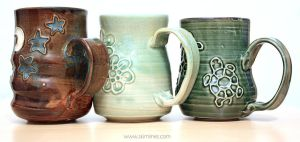 Star and moon, Five flowers, Turtles mugs by skimlines