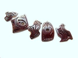 COCONUT SHELL PENDANTS :_) by MassoGeppetto