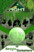 Fight Bacteria Poster by TortillaDelPeligro