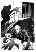 Nosferatu ink sketch by ChristianDiBari
