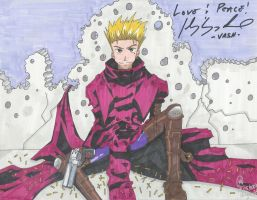 Missed by a hair -Vash- by o0bubbleheadz0o