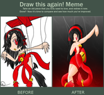Draw this again meme- The Marionette by Greteh