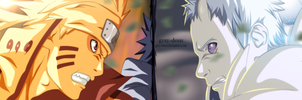 Naruto - 651 - naruto and sasuke vs obito by Gray-Dous