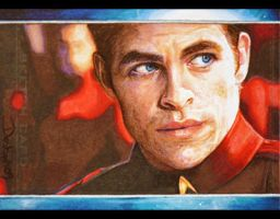 Chris Pine as James T. Kirk by DavidDeb