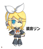 Rin Kagamine Chibi by Ice--Chan