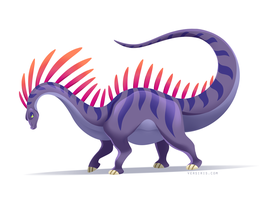 Amargasaurus by Versiris