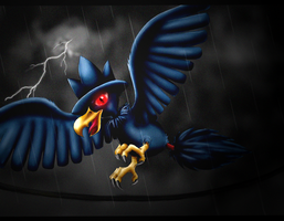 Pokemon: Murkrow by Ink-Leviathan