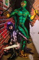 KickAss and HitGirl (colors) by FantasticMystery