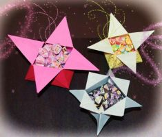 Origami Star Boxes With Lucky Stars... by pprcrft5