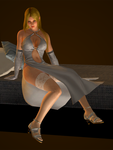 Helena sitting on bed pose for XPS (update) by RonDoe