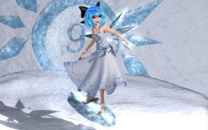 Cirno Ice Surfing by Primantis
