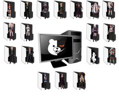 Danganronpa Folders by nightfright9