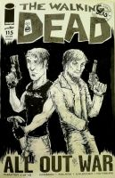 Walking Dead Zombie years Crossover Sketchcover by FWACATA