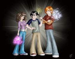 The Golden Trio Rides Again by Hollyboo2001
