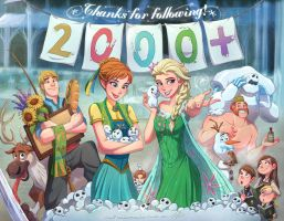 2000 Followers on Tumblr by Jeff-Mahadi