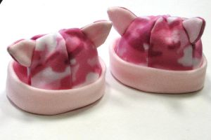 Pink Camo Moggy Lug Hats by theancientofdays