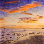 The Colors After Sundown - Colored Pencil Version by isotophoto